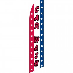 Car Wash USA Swooper Flag