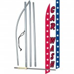 Car Wash USA Swooper Flag Bundle
