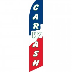 Car Wash Red White Blue Swooper Flag