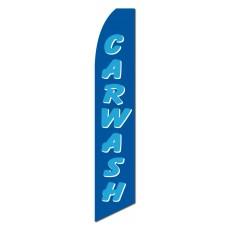 Car Wash Blue Swooper Flag