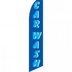 Car Wash Blue Swooper Flag