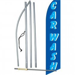 Car Wash Blue Swooper Flag Bundle