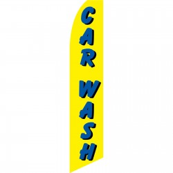 Car Wash Yellow Swooper Flag