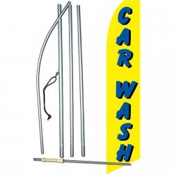 Car Wash Yellow Swooper Flag Bundle