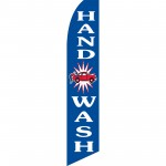 Hand Car Wash Blue Swooper Flag