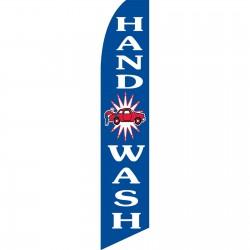 Hand Car Wash Blue Swooper Flag