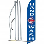 Hand Car Wash Blue Swooper Flag Bundle