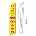 Hand Car Wash Yellow Swooper Flag Bundle