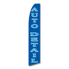 Auto Detailing Blue Swooper Flag