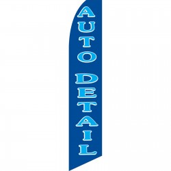 Auto Detail Blue Swooper Flag