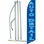 Auto Detail Blue Swooper Flag Bundle