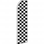 Checkered Black & White Swooper Flag