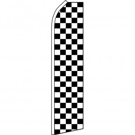 Checkered Black & White Swooper Flag