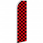 Checkered Black & Red Swooper Flag