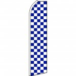 Checkered Blue & White Swooper Flag
