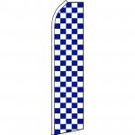 Checkered Blue & White Swooper Flag