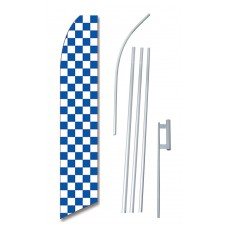Checkered Blue & White Swooper Flag Bundle