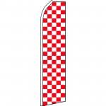Checkered Red & White Swooper Flag