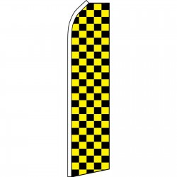 Checkered Black & Yellow Swooper Flag