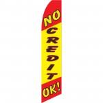 No Credit OK Swooper Flag