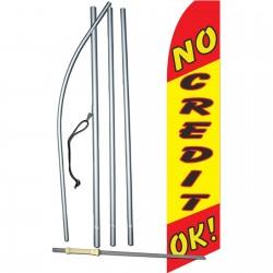 No Credit OK Yellow Swooper Flag Bundle