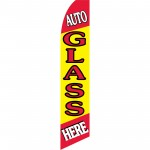 Auto Glass Here Yellow Swooper Flag