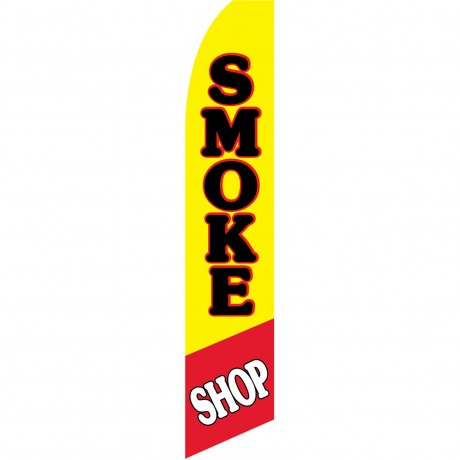 Smoke Shop Pipe Swooper Flag