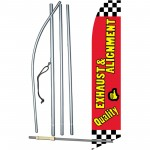 Quality Exhaust & Alignment Swooper Flag Bundle