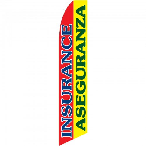 Insurance Aseguranza Red Yellow Swooper Flag Swfn 1113a By Www Neoplexonline Com