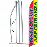 Insurance Aseguranza Red Yellow Swooper Flag Bundle