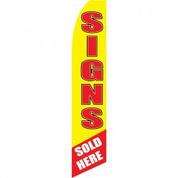 Signs Sold Here Swooper Flag