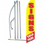 Signs Sold Here Swooper Flag Bundle