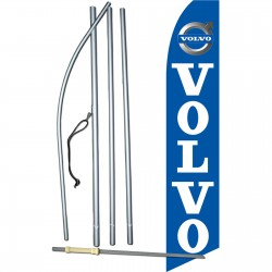 Volvo Blue Swooper Flag Bundle