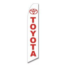 Toyota White Swooper Flag