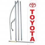 Toyota White Swooper Flag Bundle