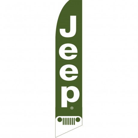 Jeep Green Swooper Flag