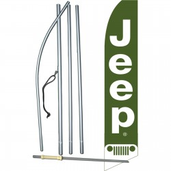 Jeep Green Swooper Flag Bundle