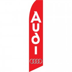 Audi Red Swooper Flag