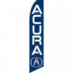Acura Blue Swooper Flag