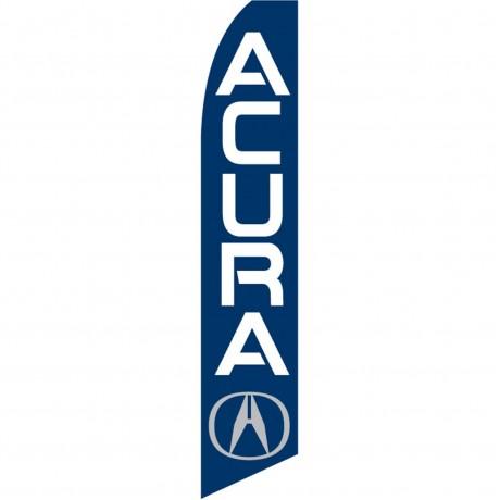 Acura Blue Swooper Flag