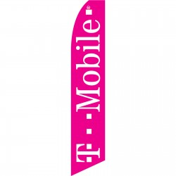 T-Mobile Pink White Swooper Flag