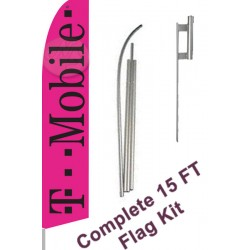 T Mobile Pink & Black Swooper Flag Bundle