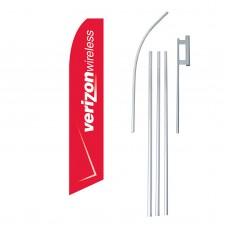 Verizon Wireless Red Swooper Flag Bundle