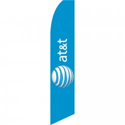 AT&T Wireless Blue Swooper Flag