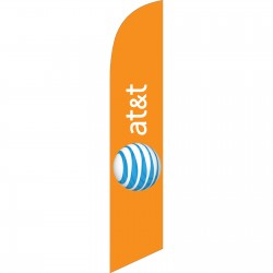 AT&T Wireless Orange Windless Swooper Flag