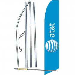 AT&T Wireless Blue Swooper Flag Bundle