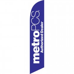 Metro PCS Authorized Dealer Swooper Flag