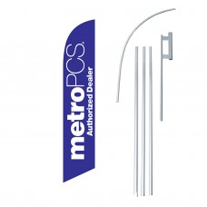 Metro PCS Authorized Dealer Swooper Flag Bundle