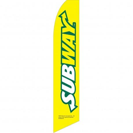 Subway Yellow Swooper Flag