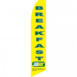 Subway Breakfast Swooper Flag